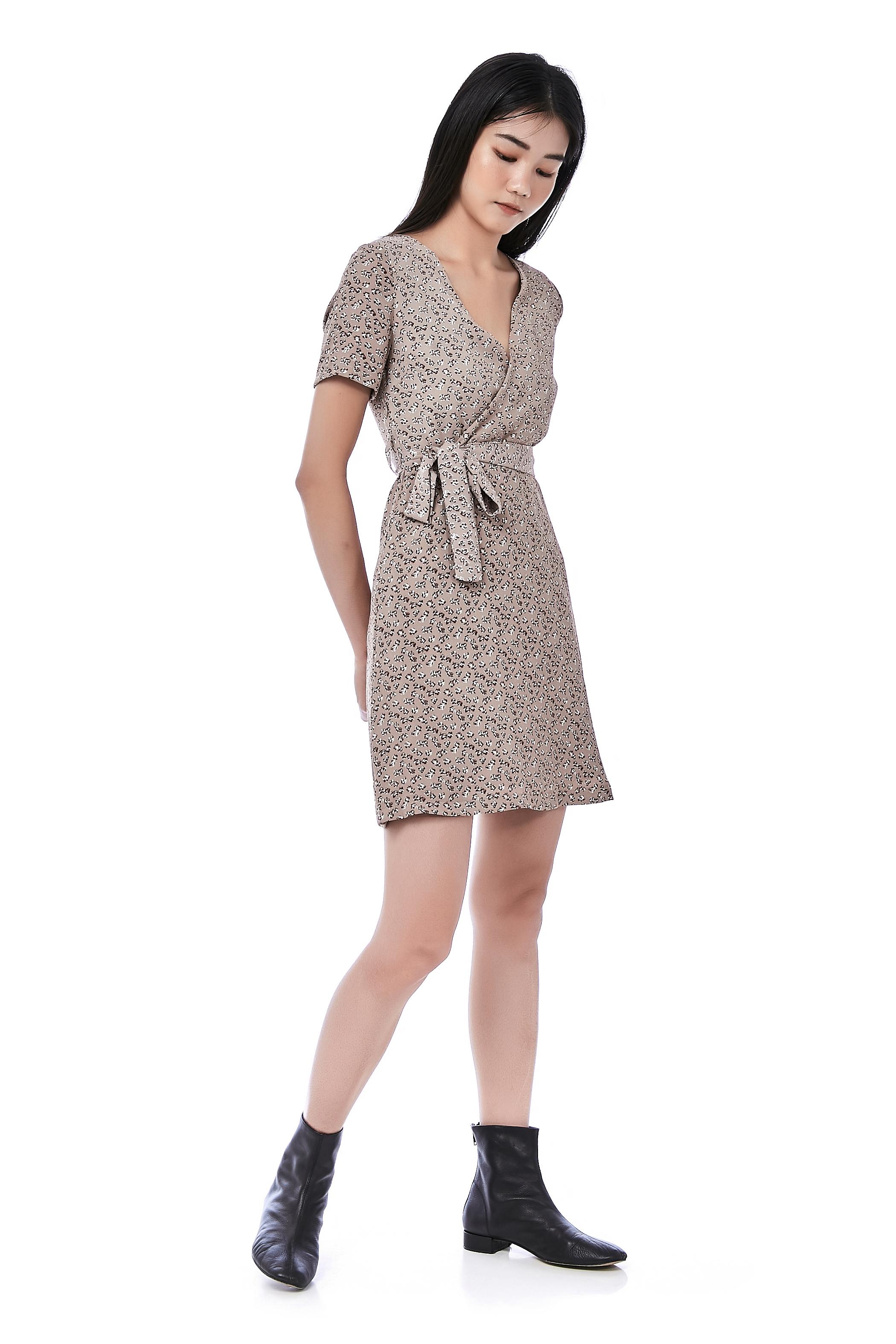 Regine Cross-Front Dress
