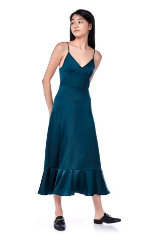 Marilyn Frill-Hem Slip Dress