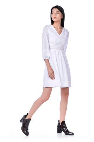 Jasmine Broderie Babydoll Dress