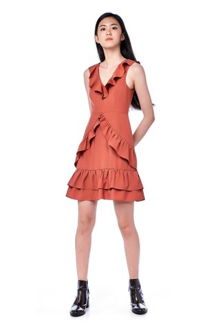 Rowlin Ruffle-Trim Dress