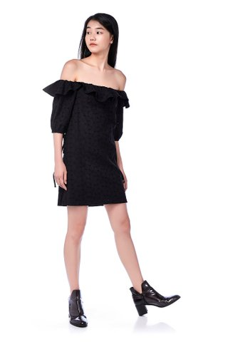Lanie Off-Shoulder Eyelet Dress