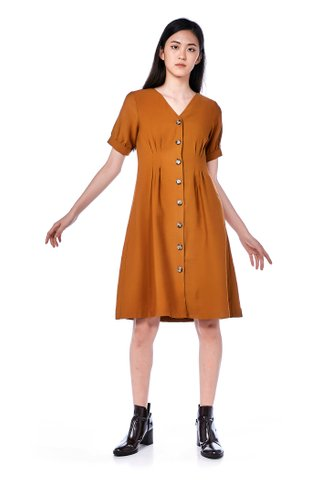 Billie Tuck-Seam Dress