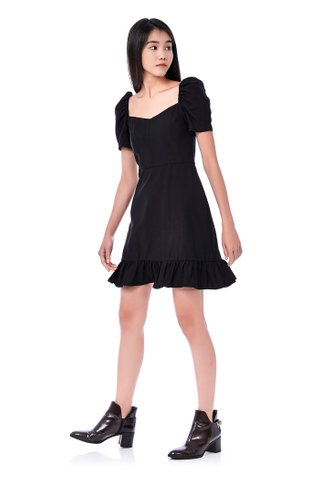 Jodi Pouf Sleeve Dress