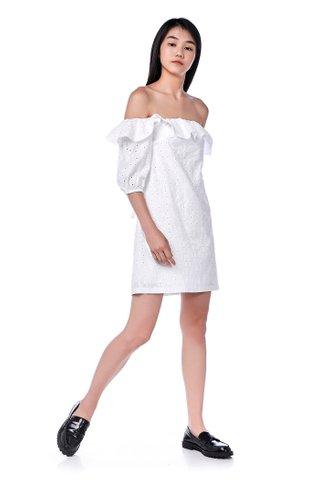 Lanie Off-Shoulder Eyelet Dress