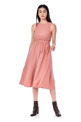 Melody Gathered-Waist Dress