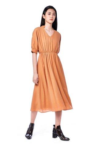 Averie Gathered-Waist Dress