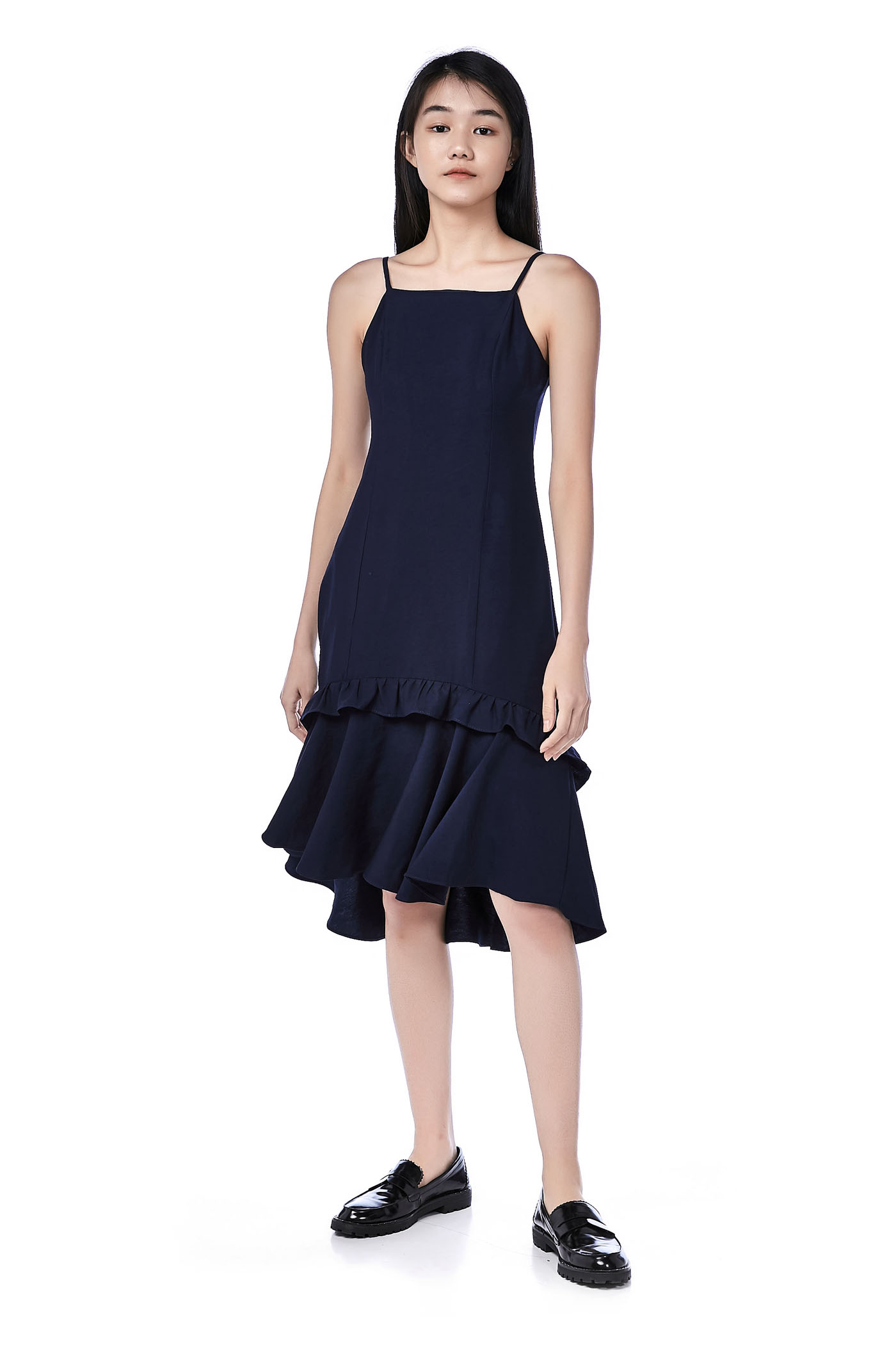 Lamour Ruffle-Hem Dress