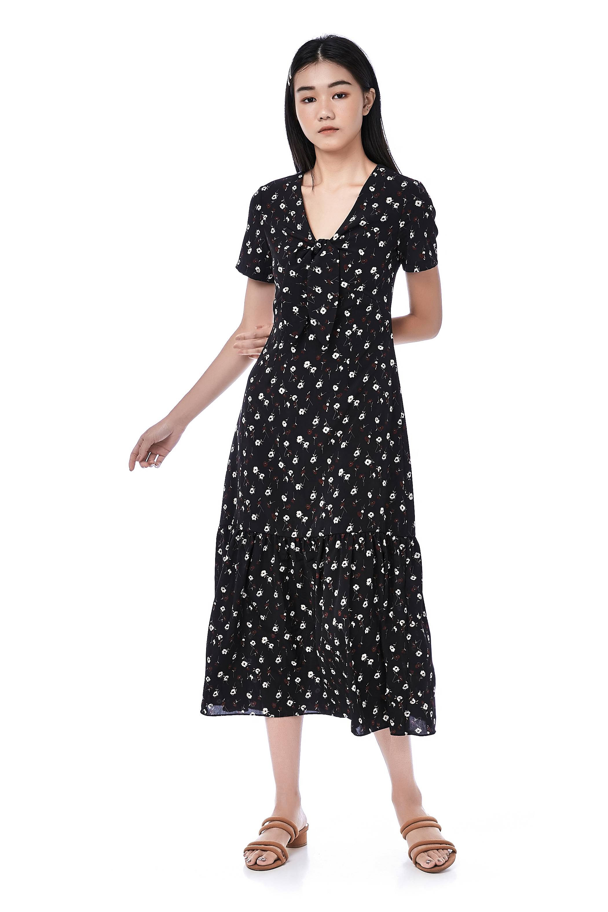 Giselle Frill-Hem Dress
