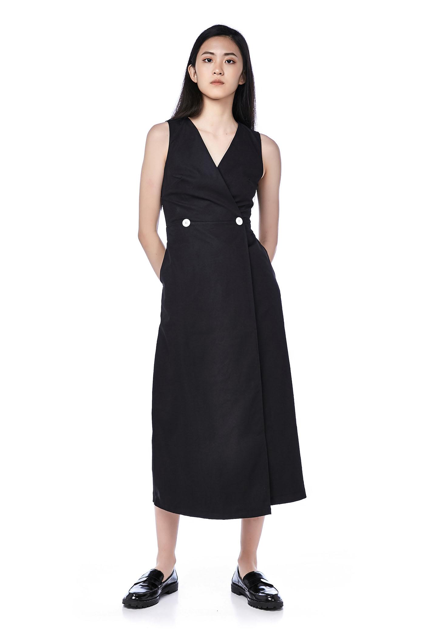 Betty Overlap Maxi Dress