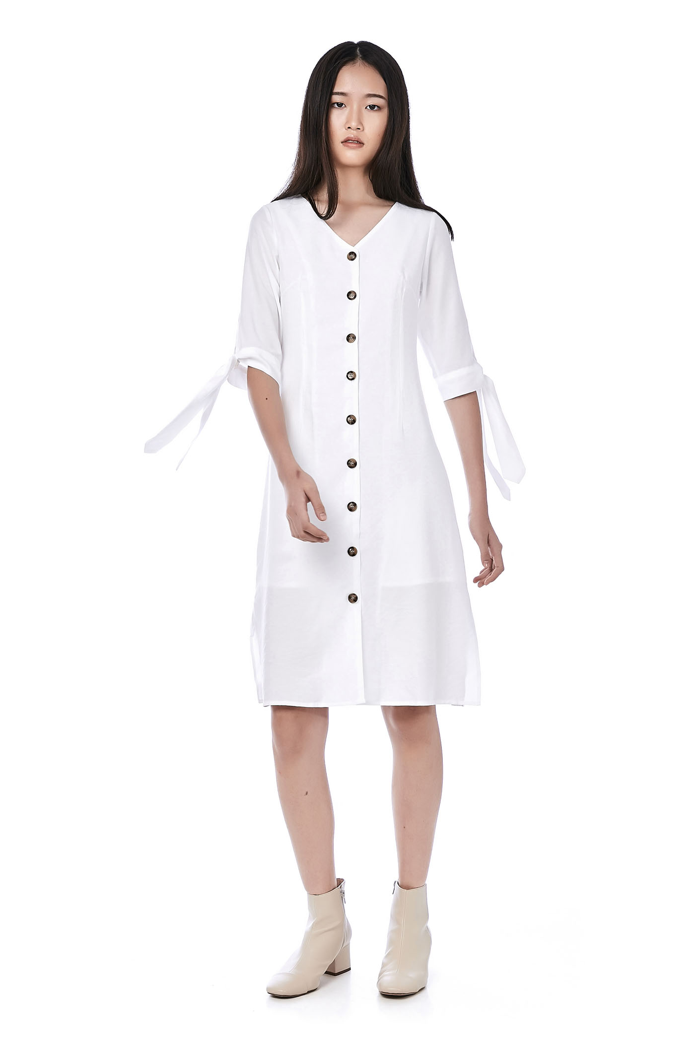 Ayres Tie-Sleeve Dress