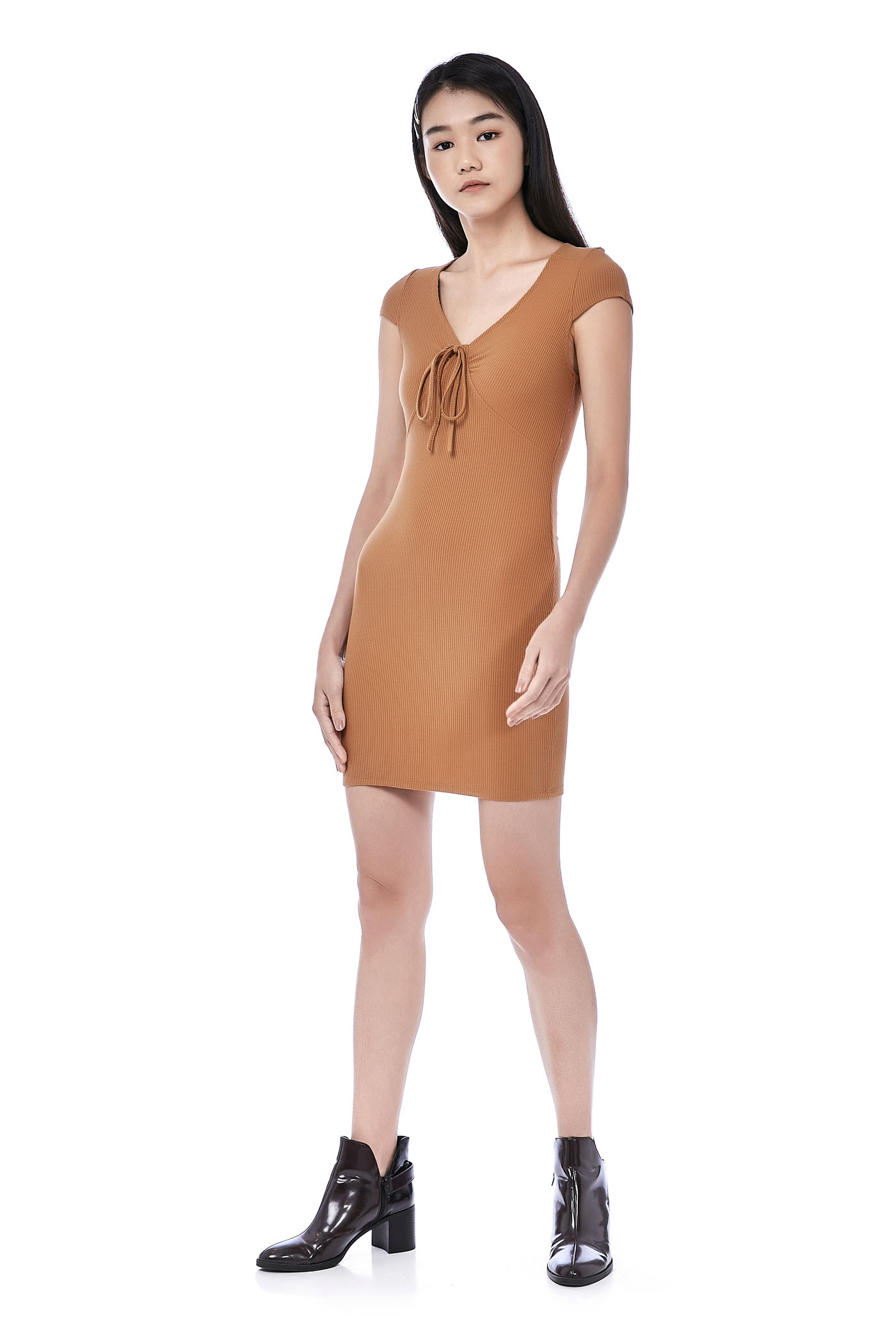 Jaheim Ribbed Mini Dress