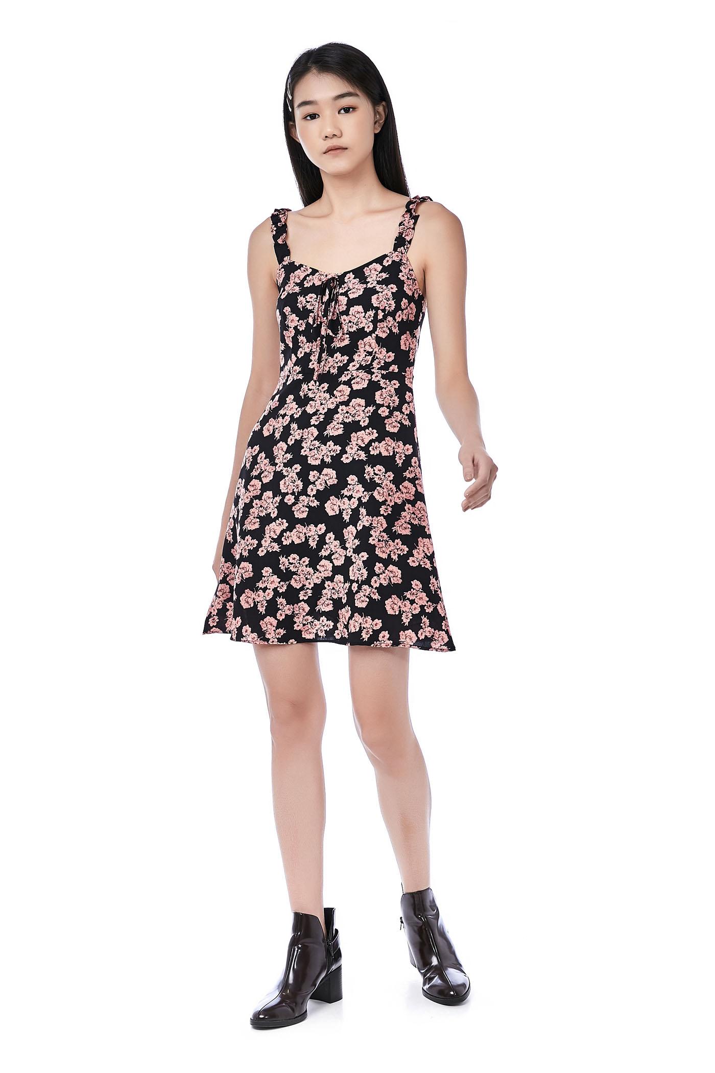 Seora Ruffle Strap Dress