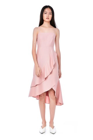 Leonie Ruffle Midi Dress