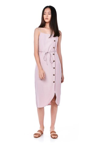 Estelle Bib Midi Dress