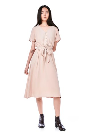 Camy Gathered-Waist Dress