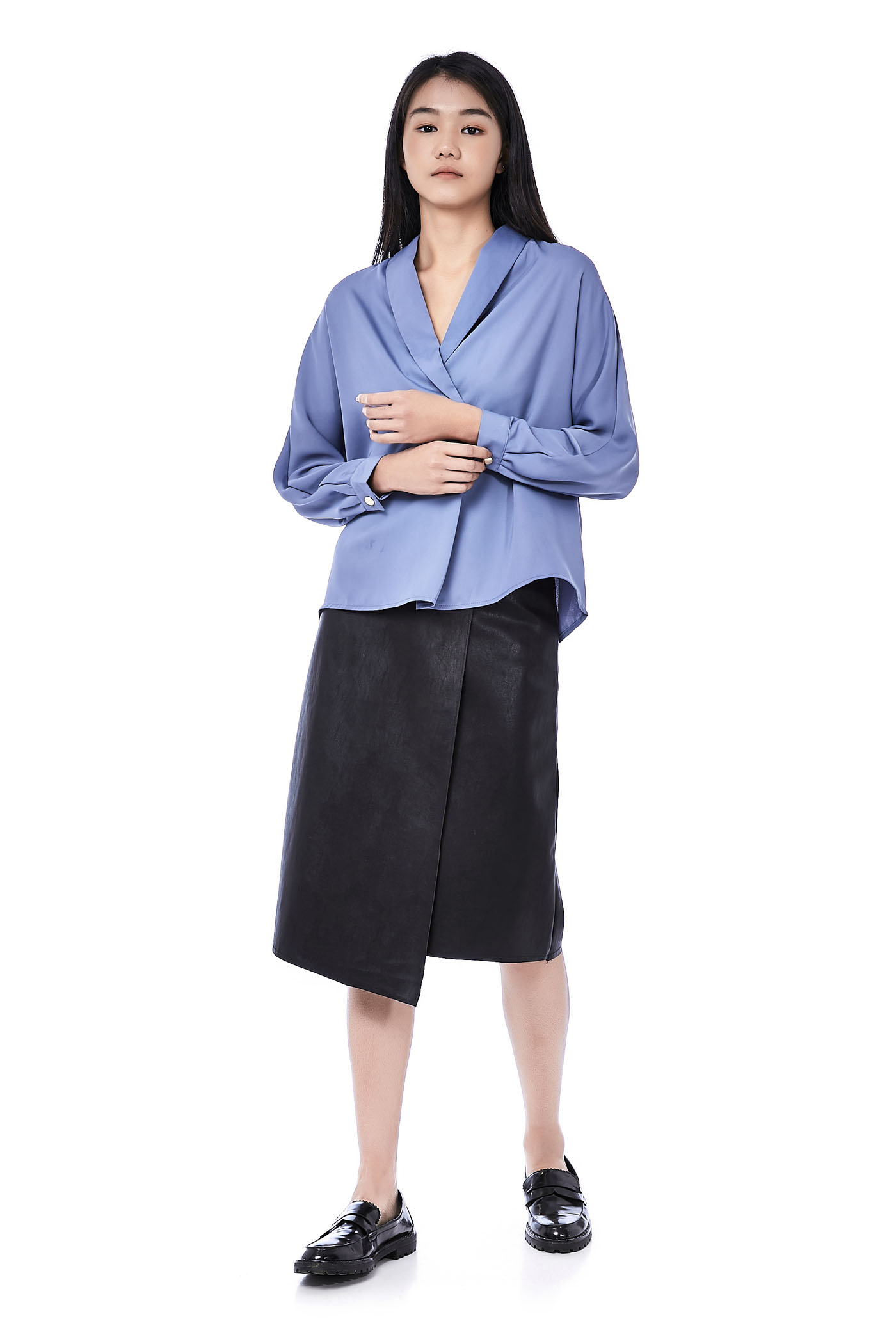 Aleci Cross-Front Blouse