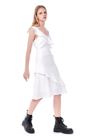 Sunny Ruffle-Trim Dress