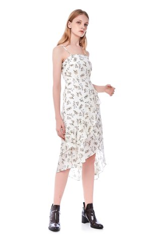 Lanny Ruffle Midi Dress