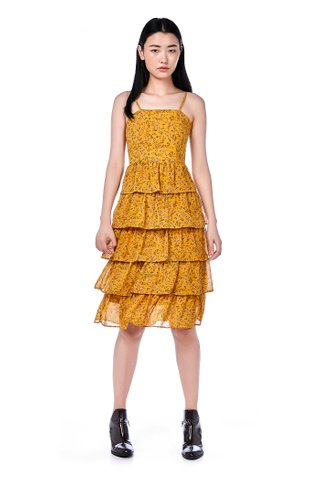 Mika Tiered-Ruffle Dress
