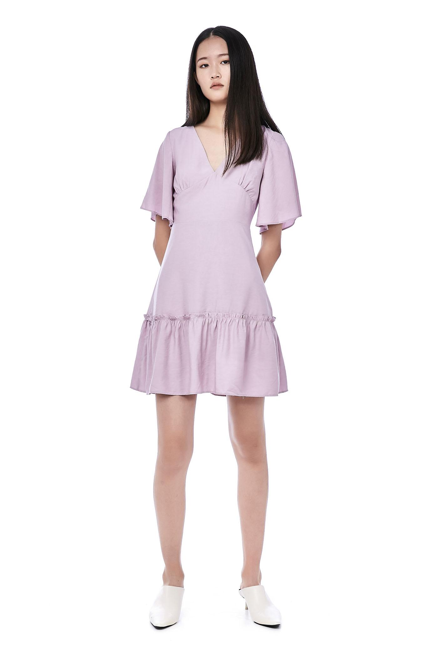 Kamryn Frill-Hem Dress