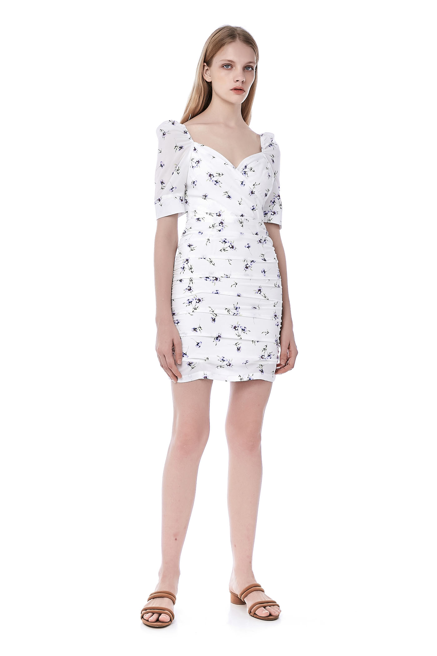 Carolyn Overlap Ruched Dress