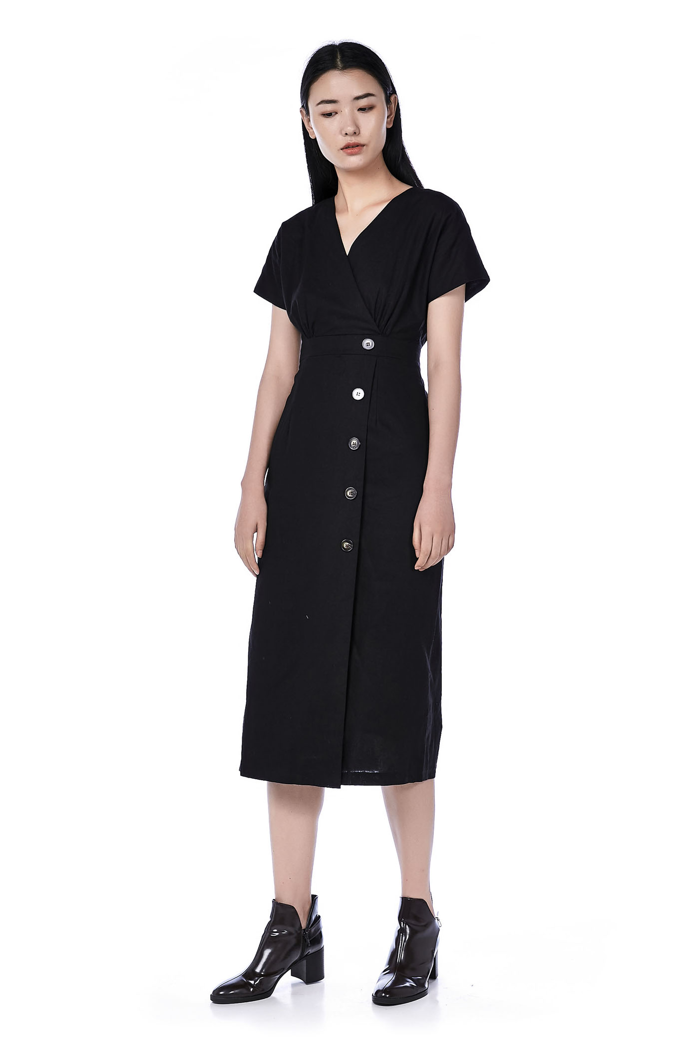 Poeny Overlap Dress