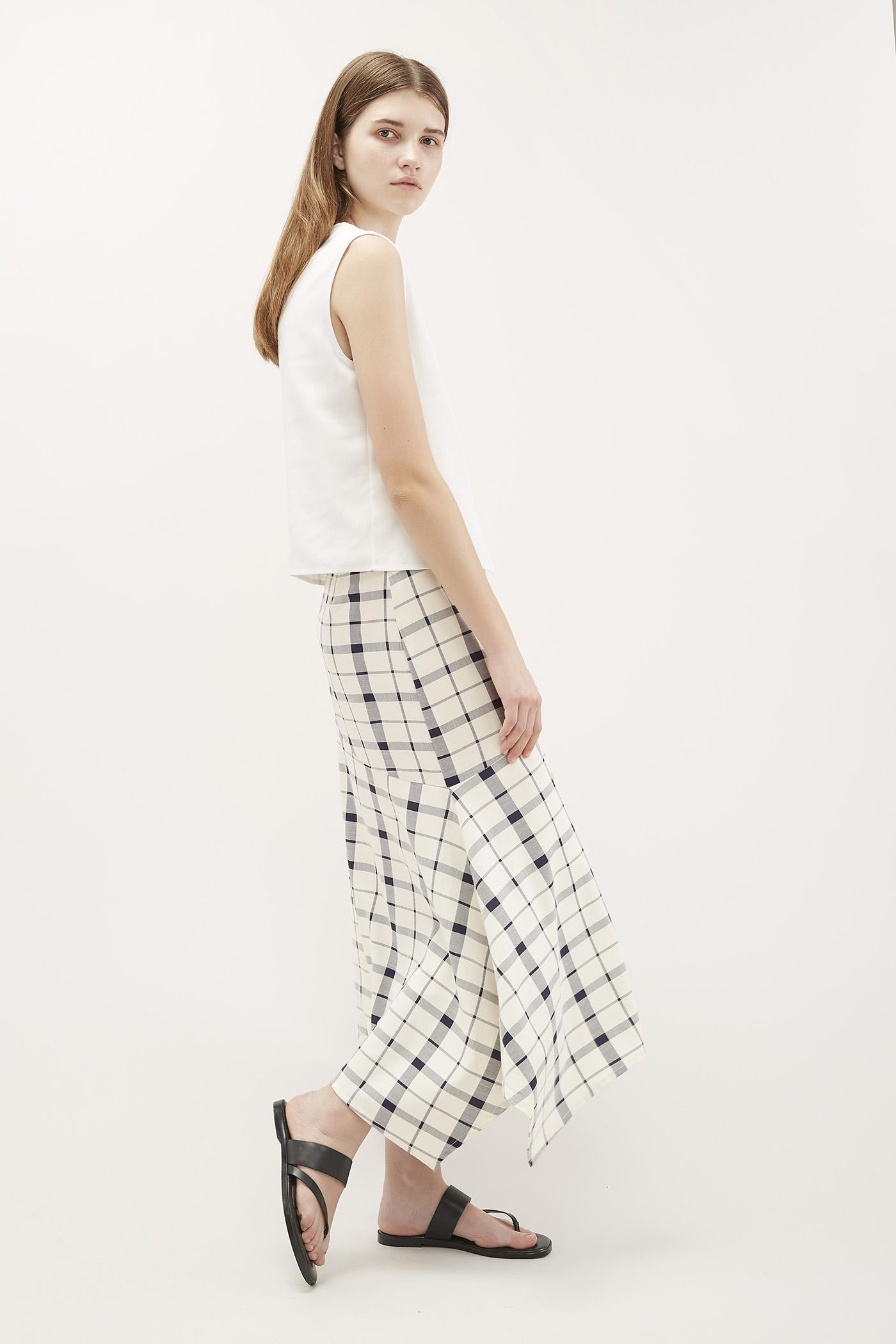 Xara Wave-Hem Skirt