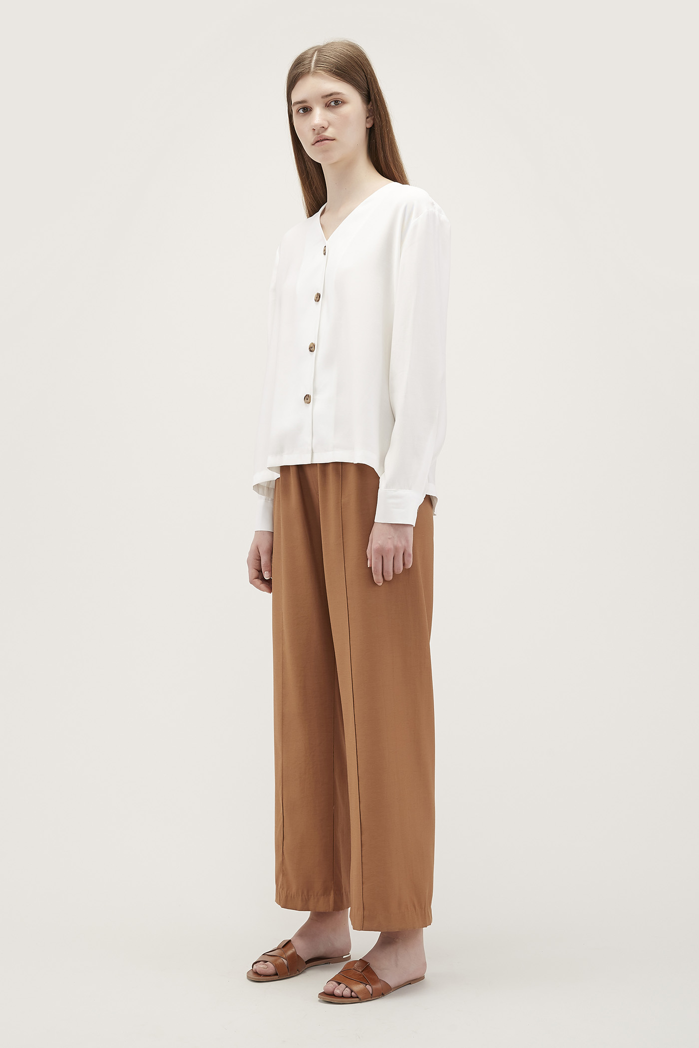 Eelyn Gathered-Waist Pants