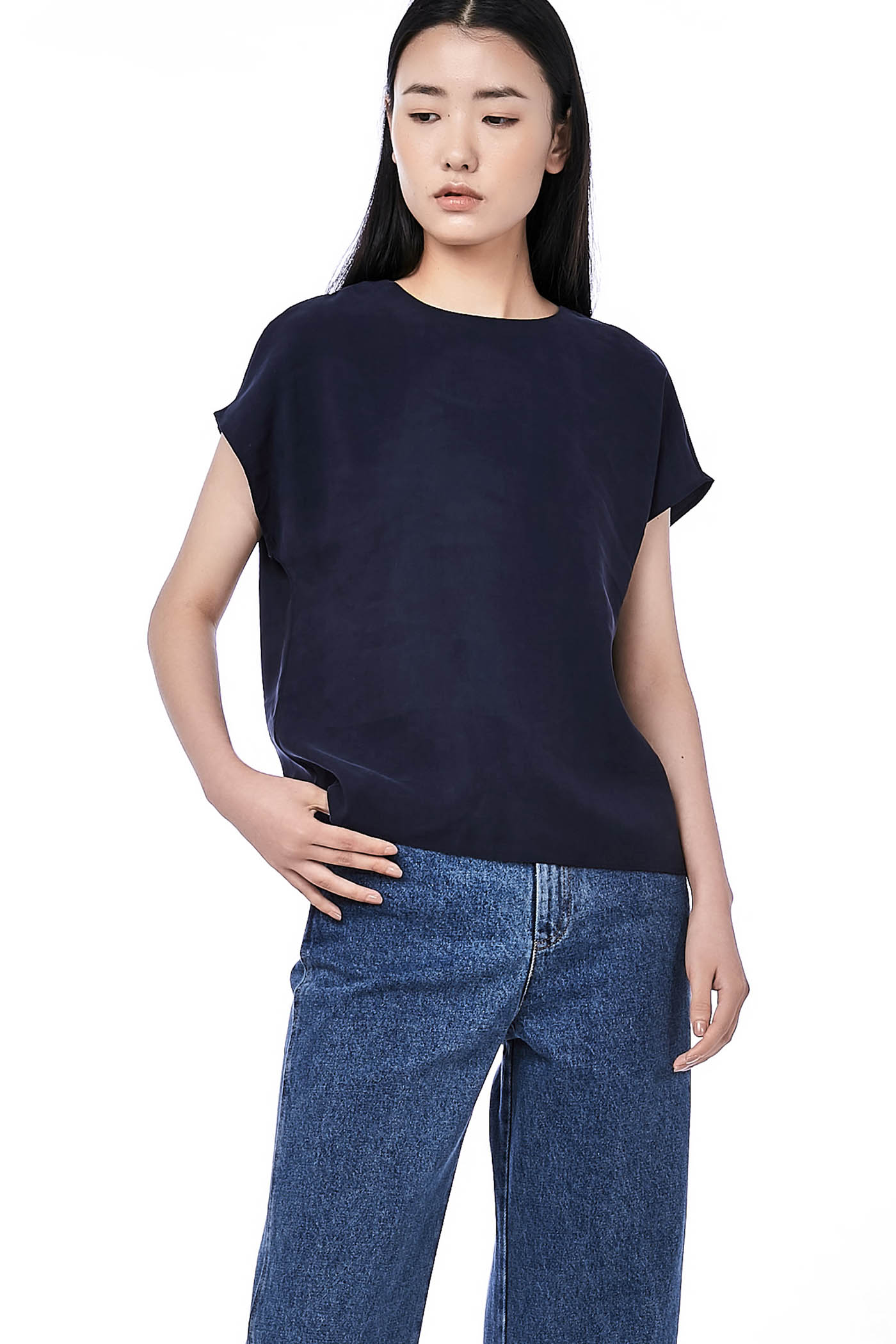 Ashy Round-Neck Top