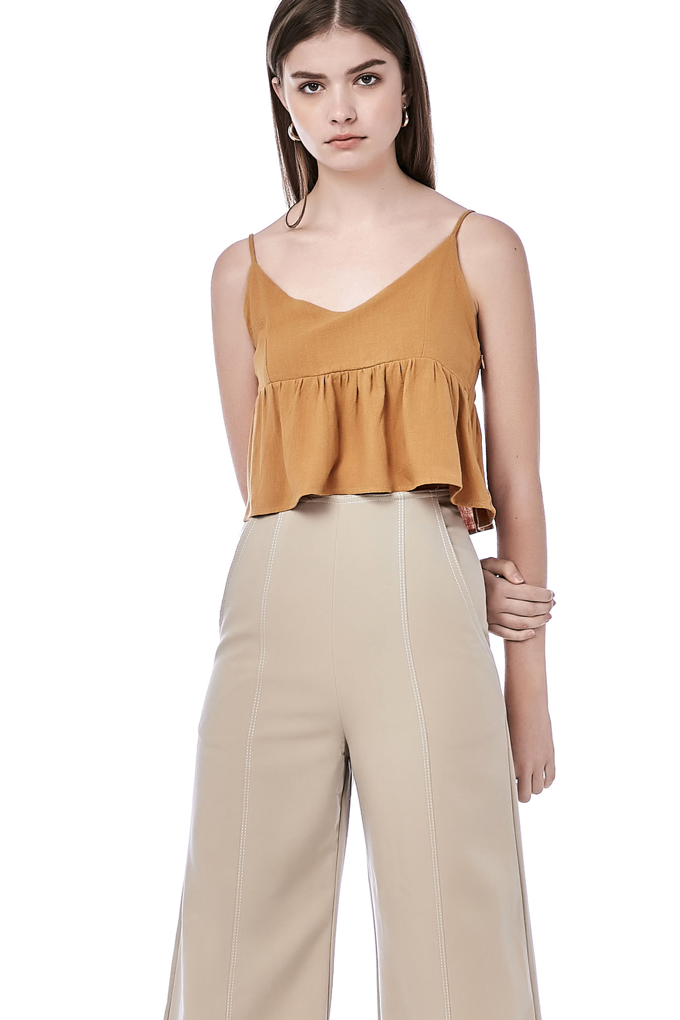 Nelyn Peplum Crop Top