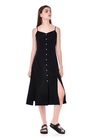 Norra Button-Through Midi Dress