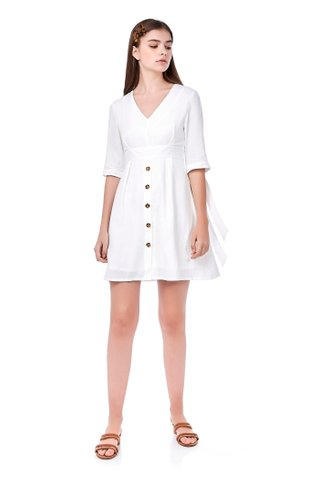 Clary Tie-Sleeve Dress