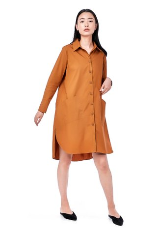 Odellia Button-Through Shirtdress