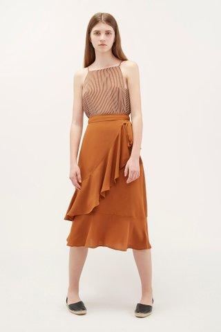 Edson Ruffle Wrap Skirt