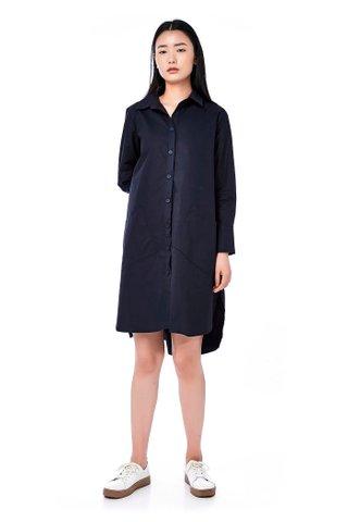 Odellia Button-Through Shirtdress