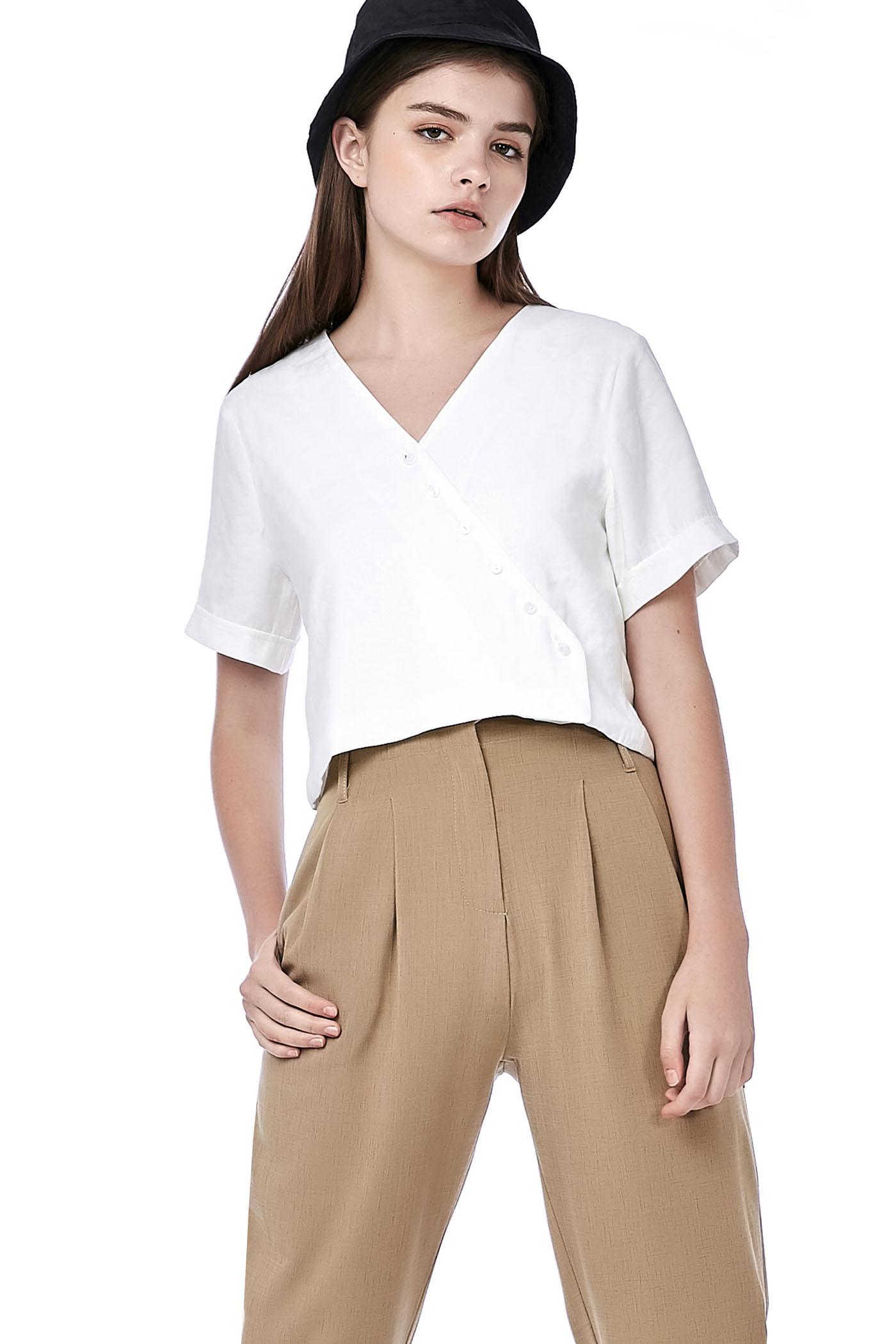 Jerrio Button-Down Top