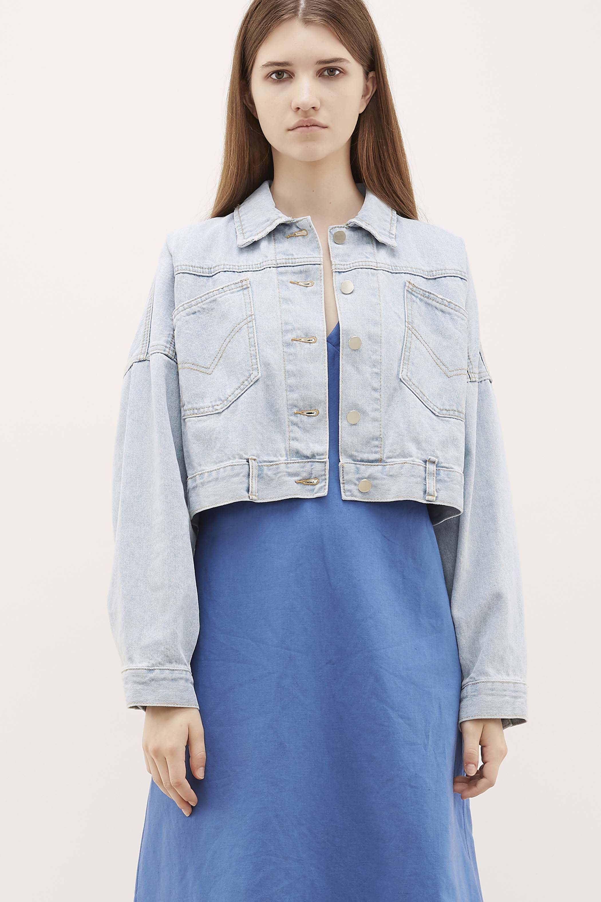 Hesther Crop Denim Jacket