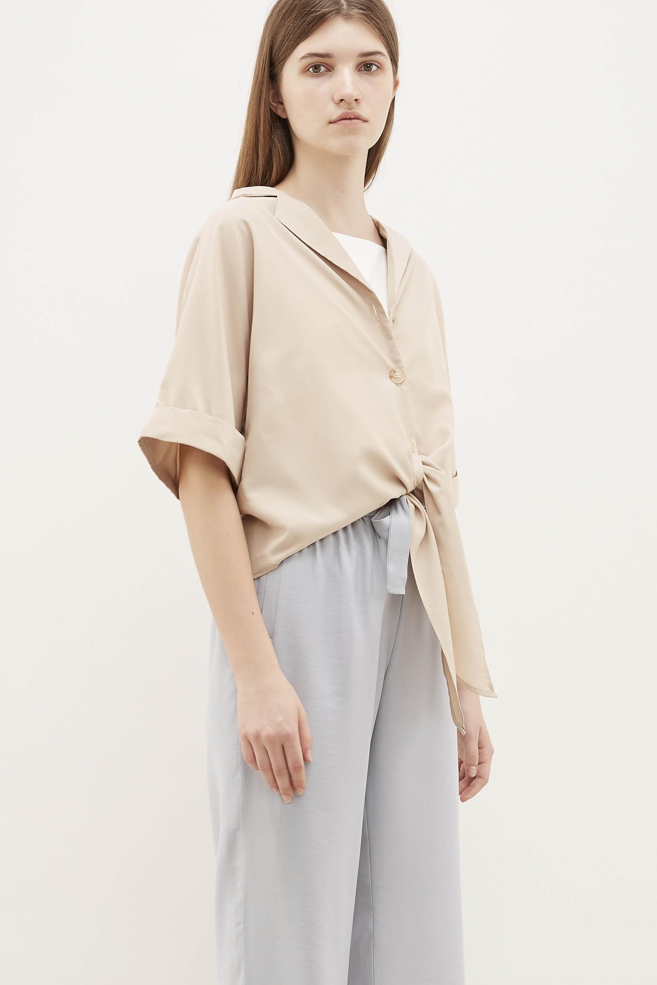 Juri Front-Tie Blouse