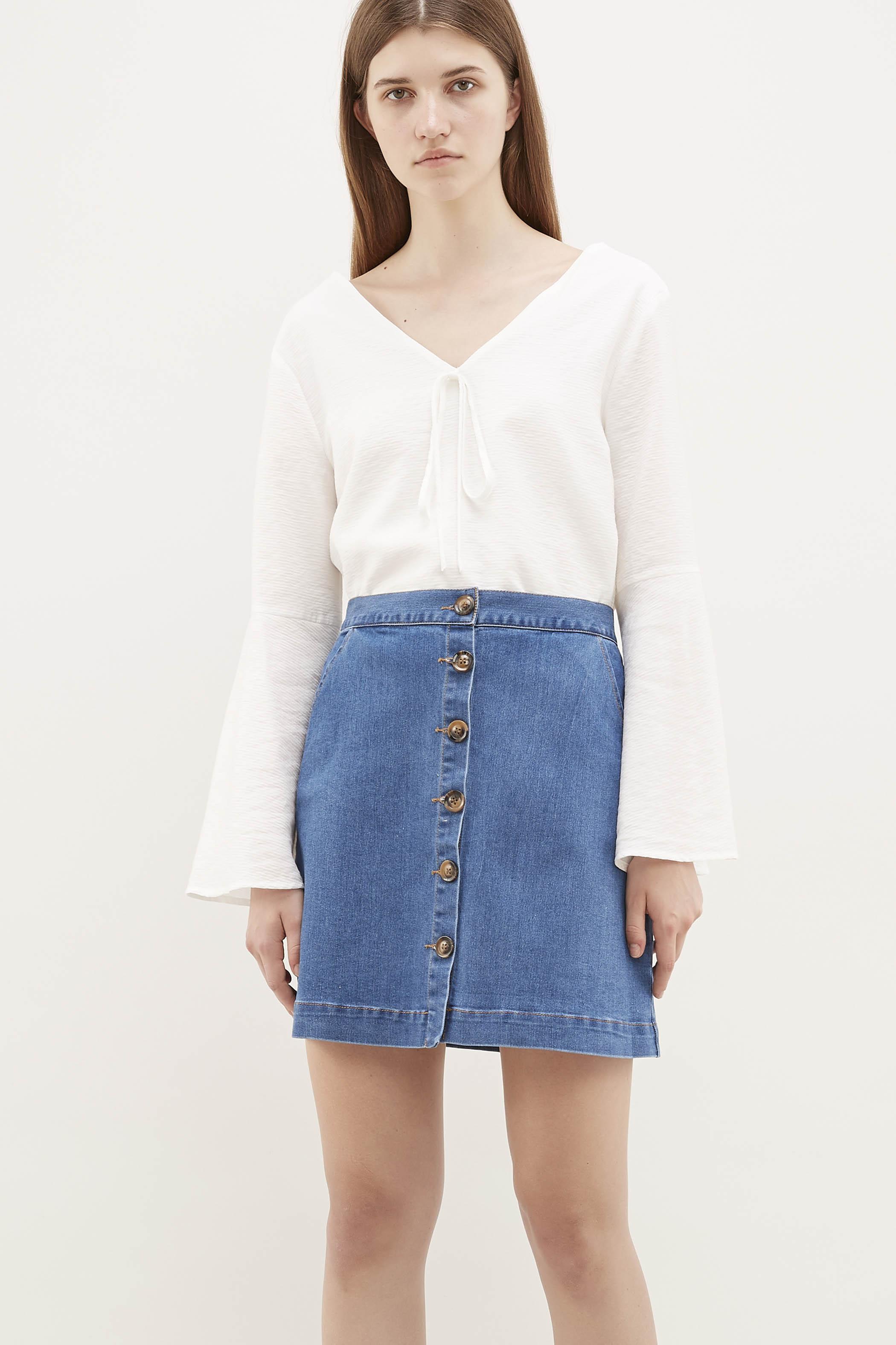 Kenda Flare-Sleeve Blouse