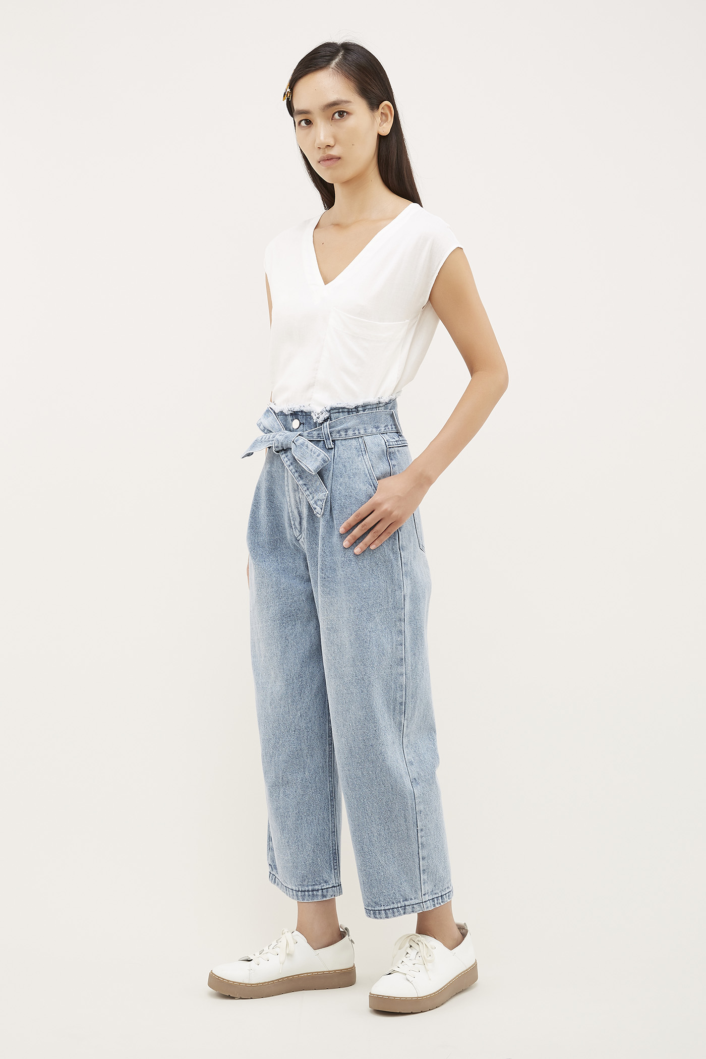 Guia Paperbag Jeans