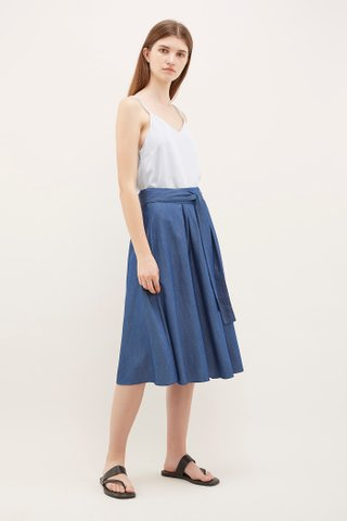 Yalena Pleated Midi Skirt