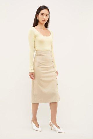 Thady Linen Skirt