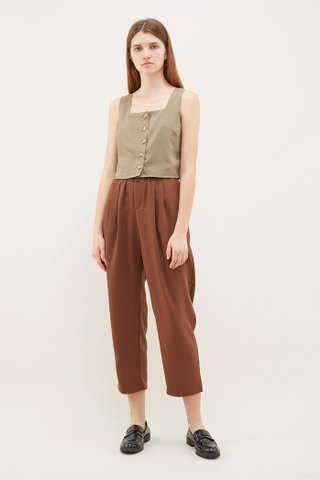Jaya Square-Neck Crop Top
