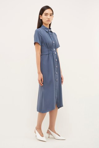 Iksha Gathered-Waist Dress