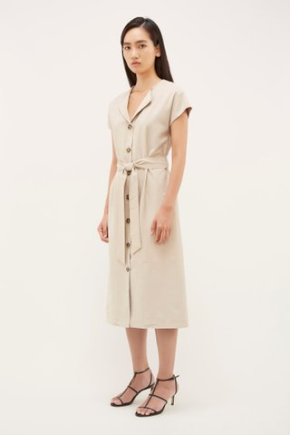 Lauris Button-Through Dress
