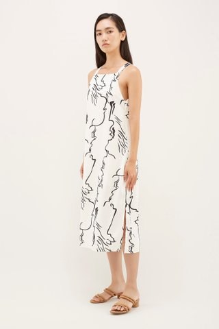 Yeli Bib Midi Dress