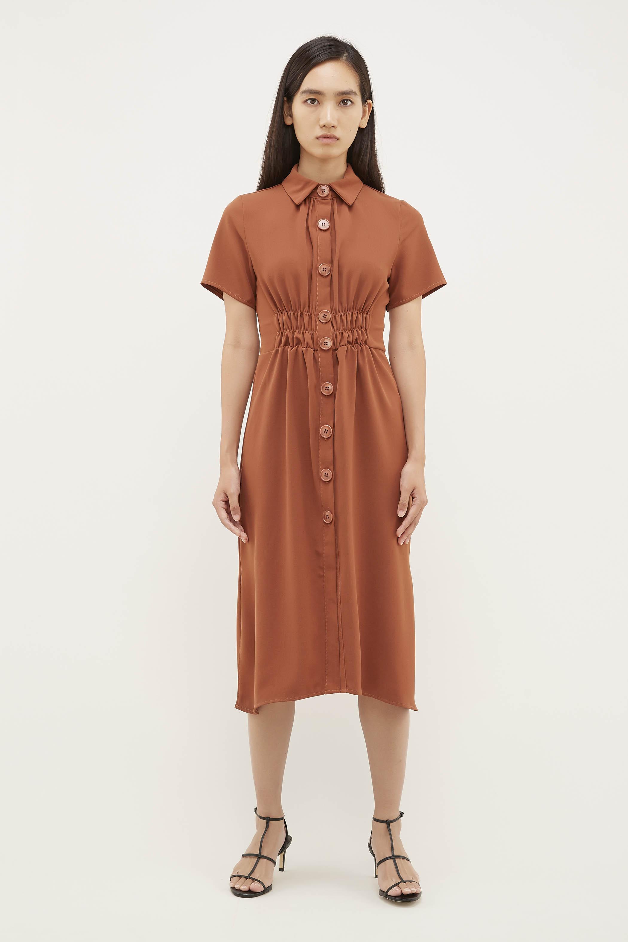 Iksha Gathered-Waist Dress