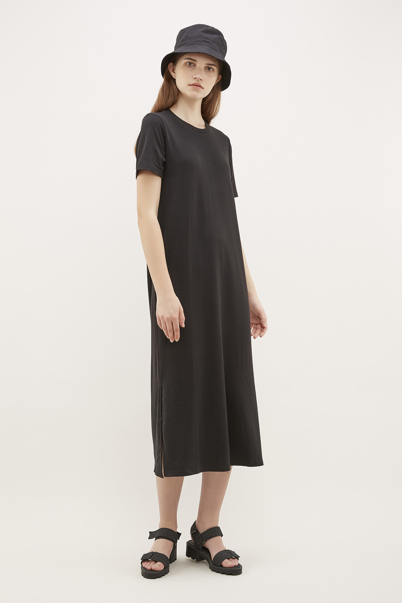 Celmira Ribbed-Tee Dress