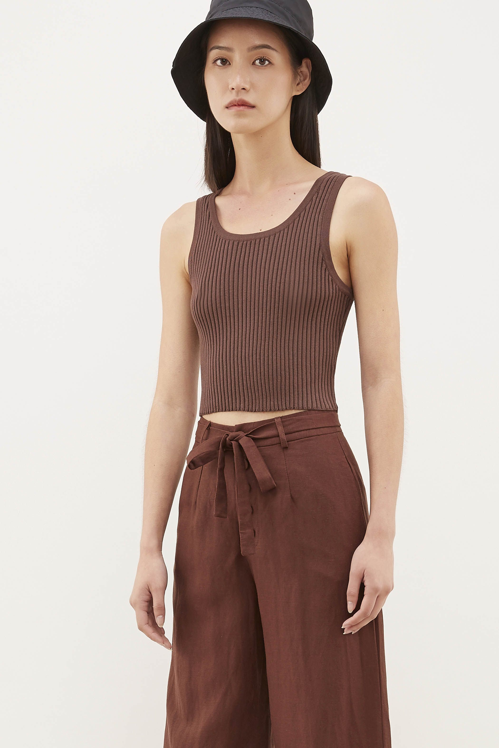 Delsy Knit Crop Tank