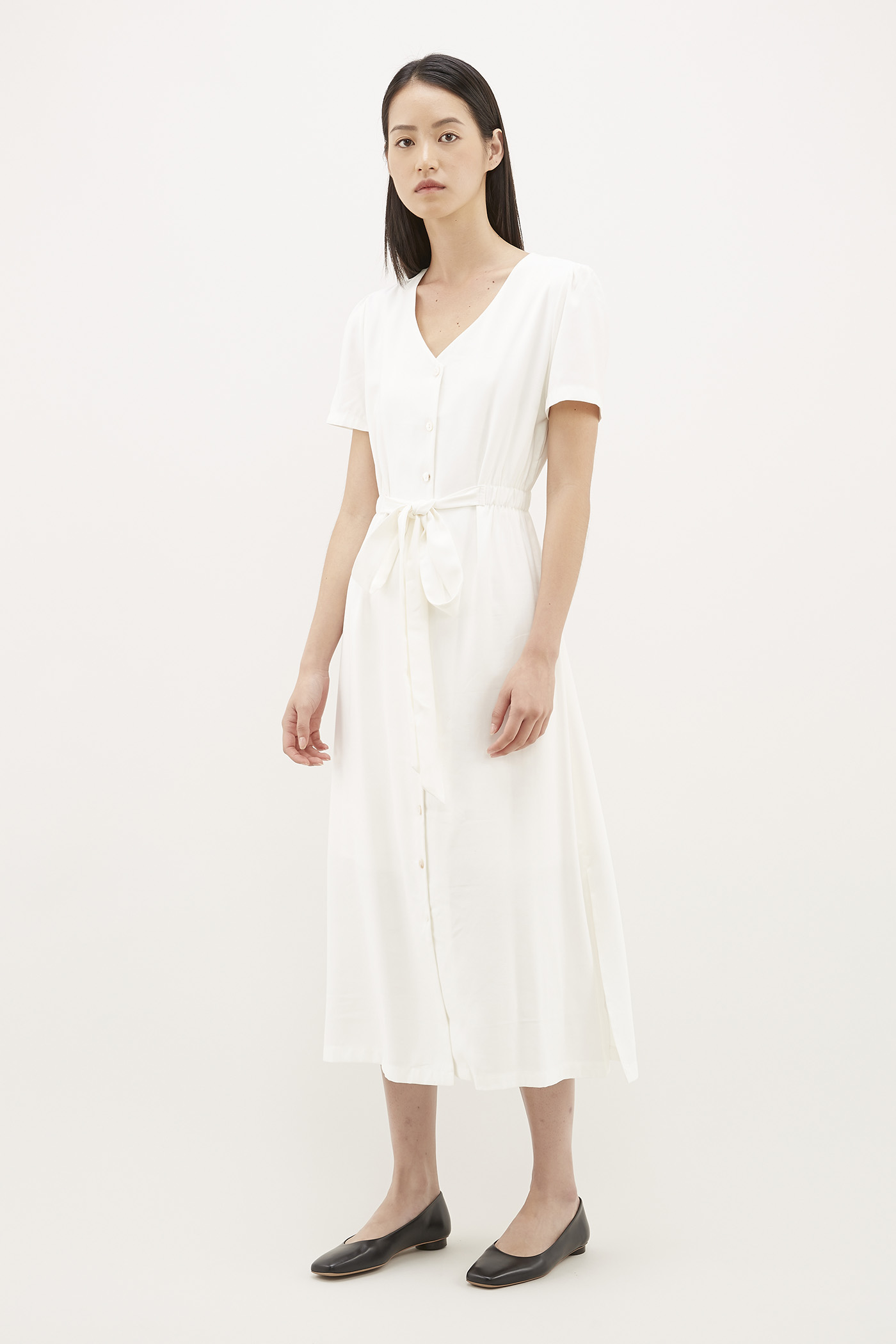 Adeam Gathered-Waist Dress